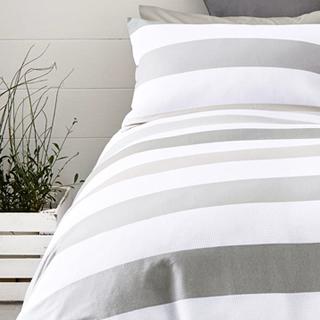 簡約橫紋雙/單人床包組
