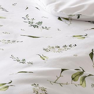自然花草四件式床包組